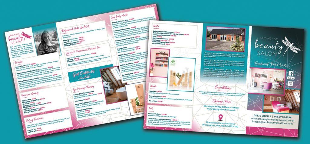 Bressingam Beauty Salon Price List